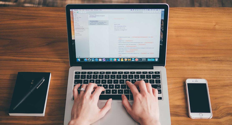 Tekstschrijven Macbook